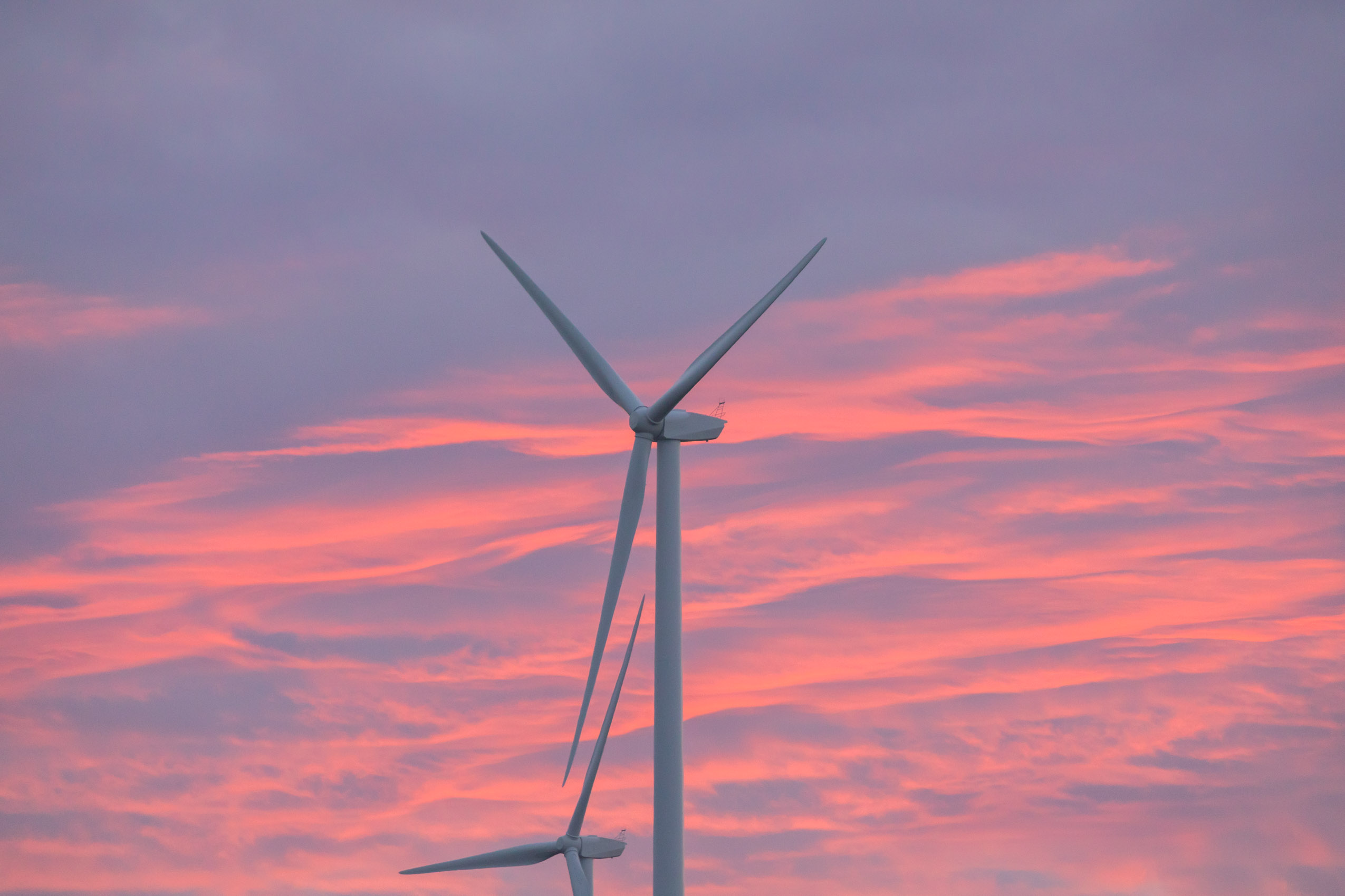 siemens wind turbine at sunrise