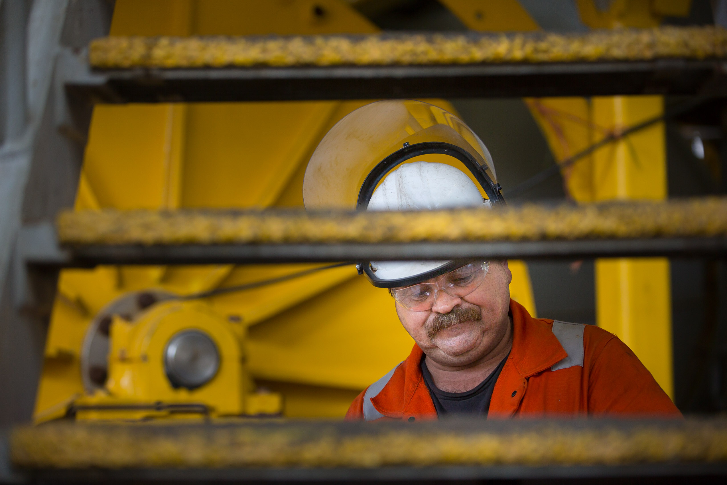 oil rig worker portrait